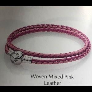 b951143b7 Women Pink Pandora Leather Bracelet on Poshmark
